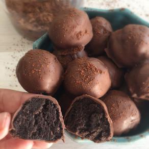 Trufas de Galletas de Chocolate y Menta