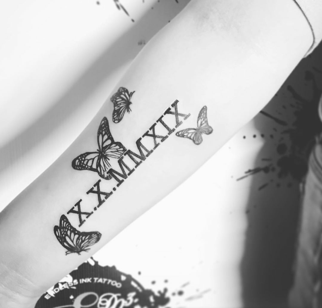 Butterflies & Roman Numbers