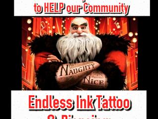 🎅Toys 4 Tats - 9th Annual ENDLESS INK TATTOO & PIERCING  www.endlessinktattoo.com