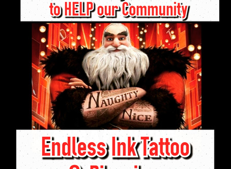 🎅Toys 4 Tats - 9th Annual ENDLESS INK TATTOO & PIERCING  www.endlessinktattoo.com