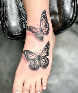 Foot Butterflies