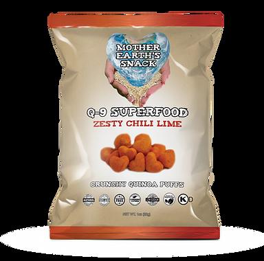 Q-9 Zesty Chili Lime Quinoa Puffs 1oz.pn