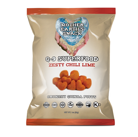 Q-9 Zesty Chili Lime Quinoa Puffs 1oz.pn