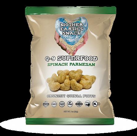 Q-9 Spinach Parmesan Quinoa Puffs 1oz.pn