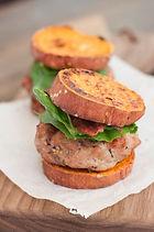 Q-9 Turkey Sliders with Sweet Potato Bun
