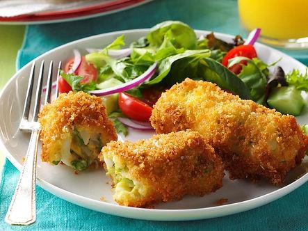Q-9 Egg & Asparagus Breakfast Croquettes