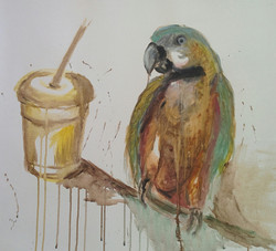 Papağan - Fovart Tablosu