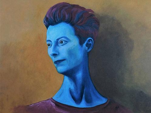 Blueberries: Tilda Swinton in Blue