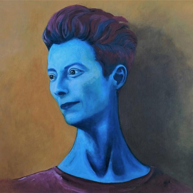 Tilda Swinton in Blue
