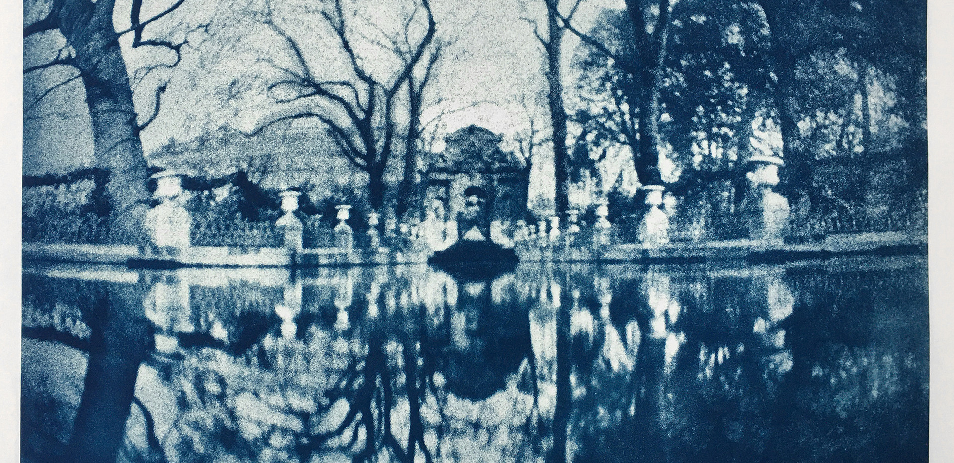 Fontaine des Medicis, Paris Cyanotype 22