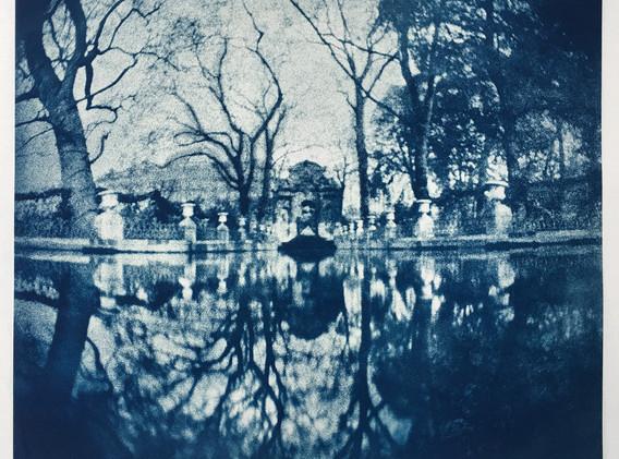 Fontaine des Medicis, Paris Cyanotype 22