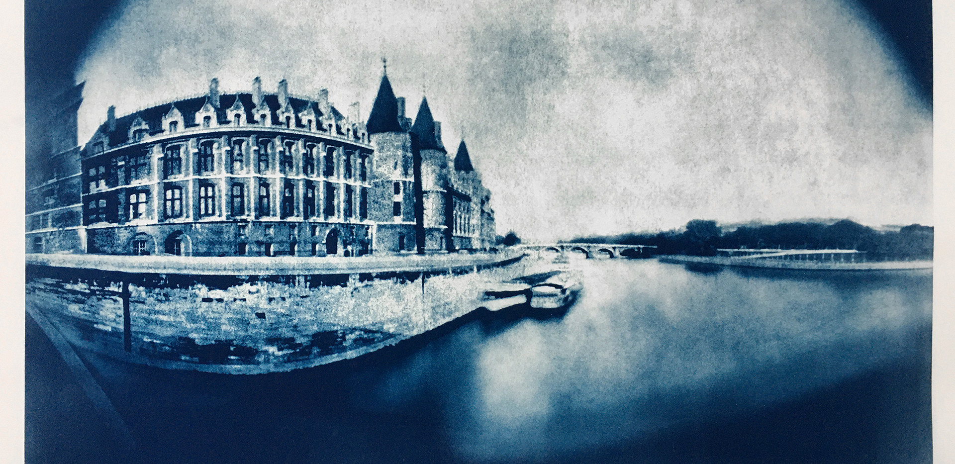Conciergerie, Paris Cyanotype 21.5_ x 33