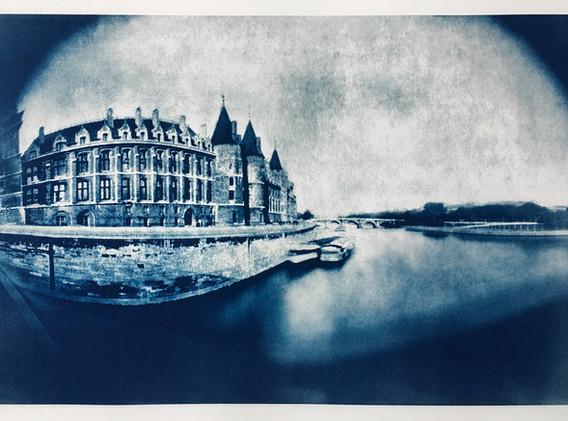 Conciergerie, Paris Cyanotype 21.5_ x 33