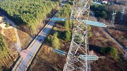 Oblot słupów energetycznych