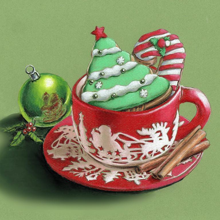 """CHRISTMAS COOKIES"" Color Pencil ZOOM Webinar"