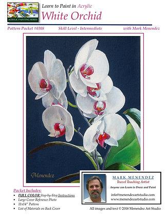 DIGITAL Acrylic White Orchid
