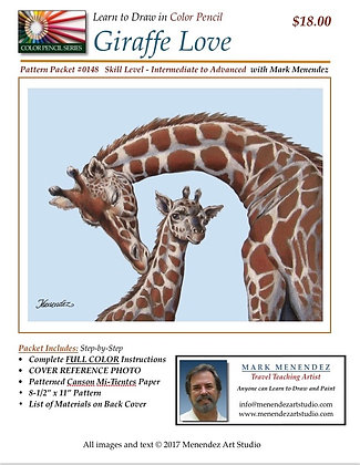 Giraffe Love Color Pencil