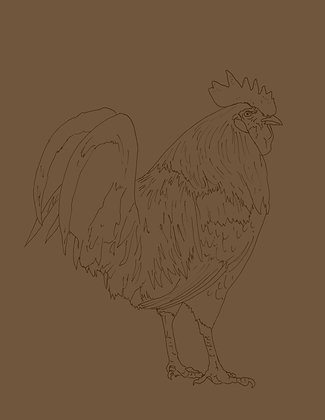 Banty Rooster Pre-Pattern Paper