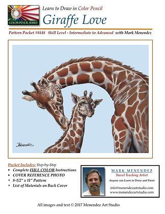 DIGITAL Giraffe Love