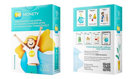 Monety - образователни карти и забавна семейна игра за финансова грамотност