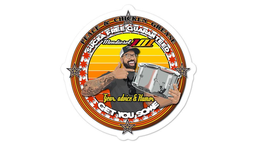 Mendiesel 101 Suck Free Guarantee Sticker
