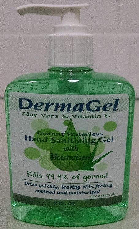 Derma Gel 8oz Hand Sanitizer with Aloe Vera