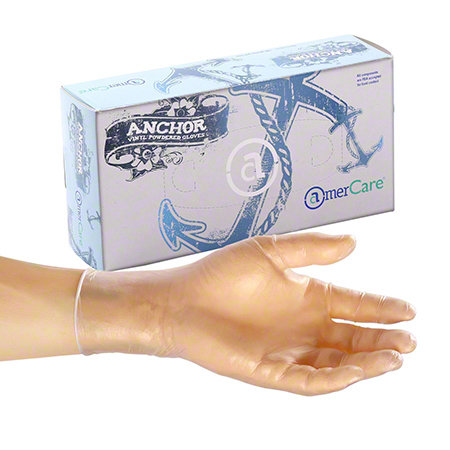 Amercare Anchor Powder Vinyl Gloves