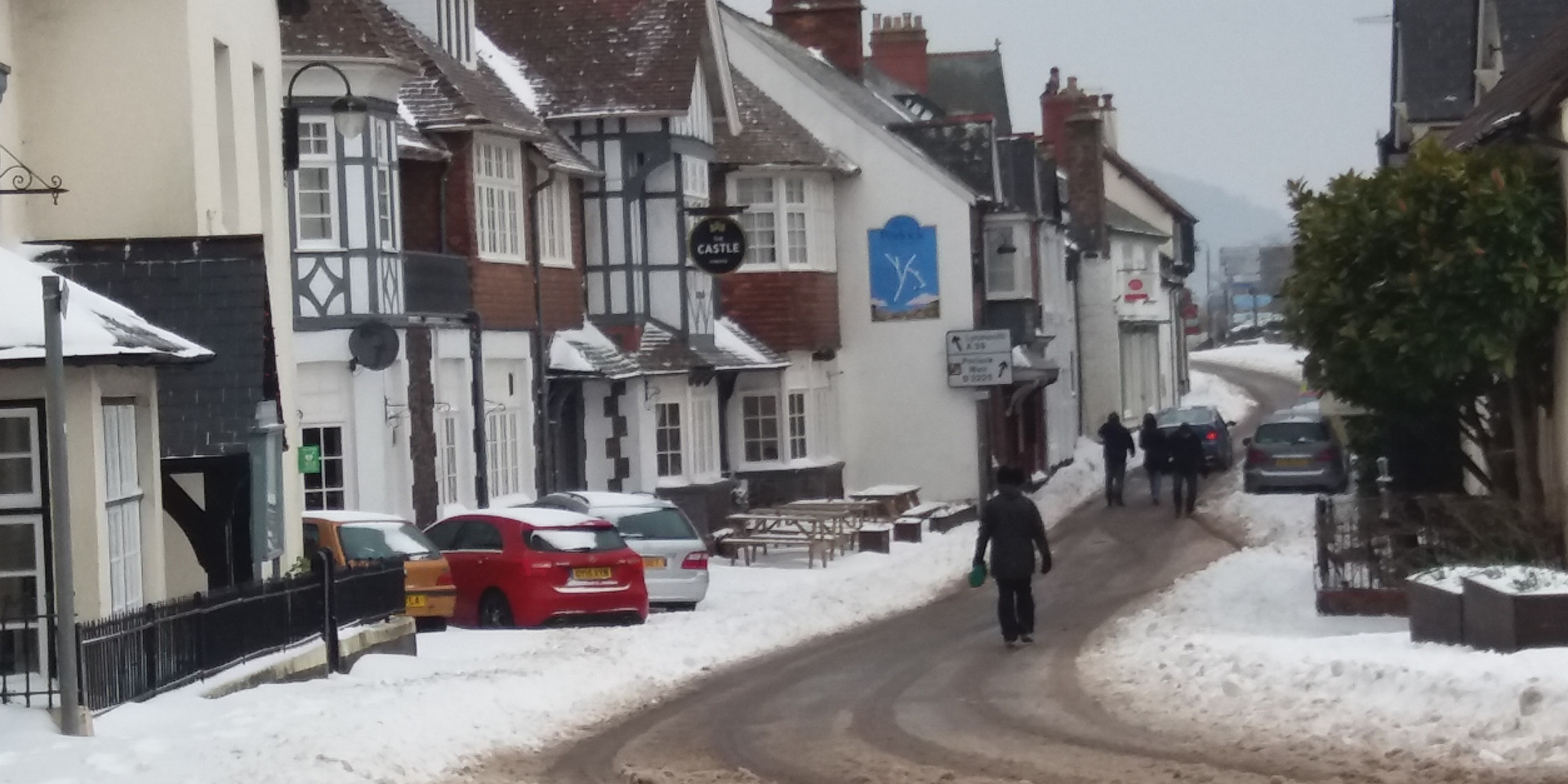 High Street in the snow
