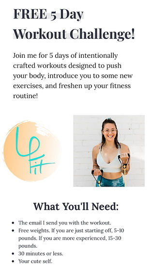 free 5 day workout challenge leah peters