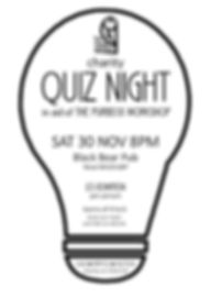 2019 Quiz night poster - black and white