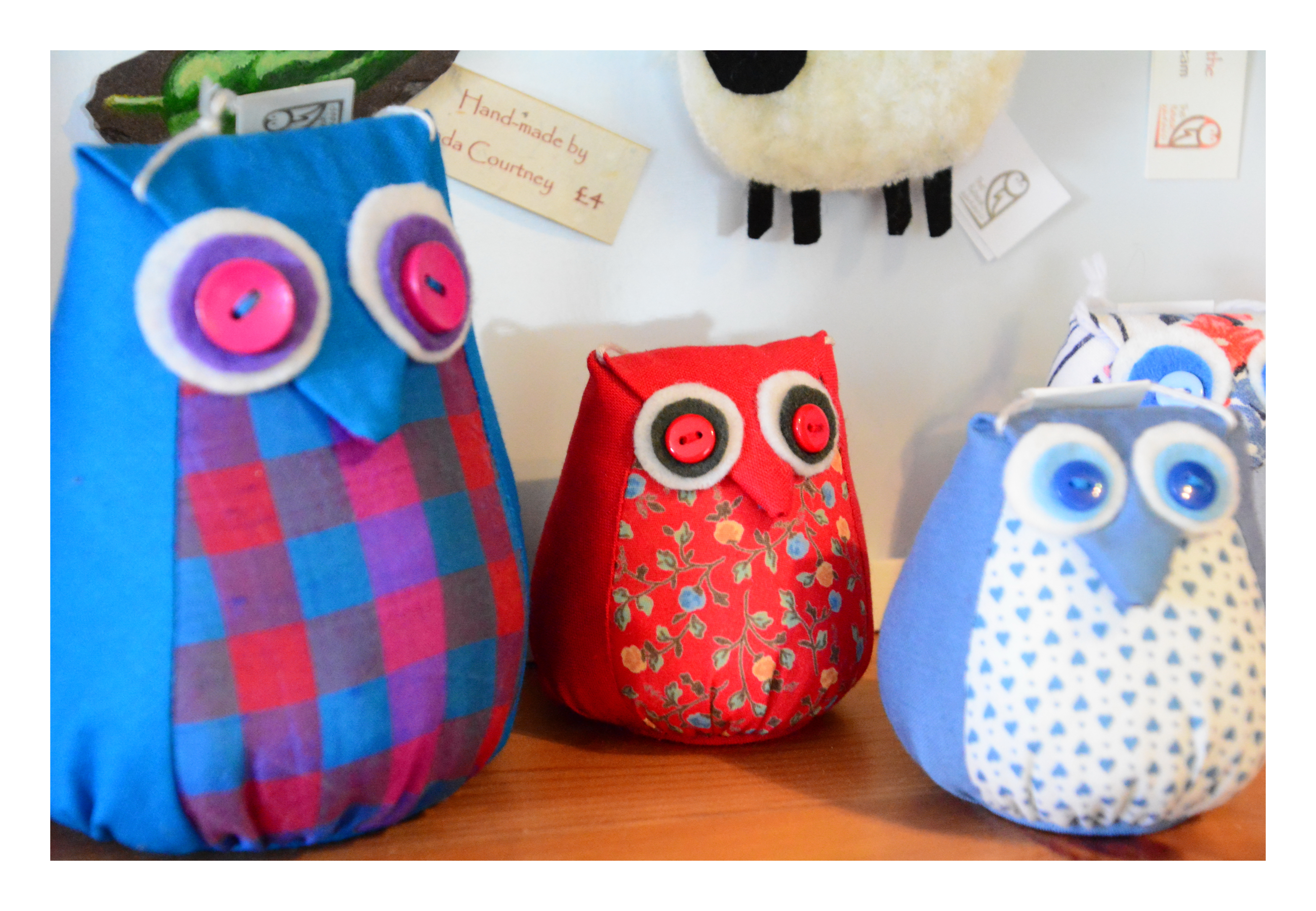 Owl Doorstop and Cushions