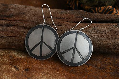 Peace Earrings Medium Discs