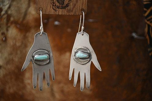 Nomad Eye Hand Earrings