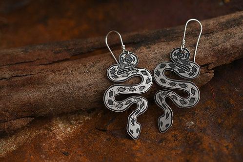 Silver Serpent Earrings
