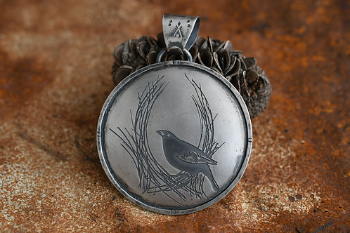 The Peg Thief Bowerbird Pendant