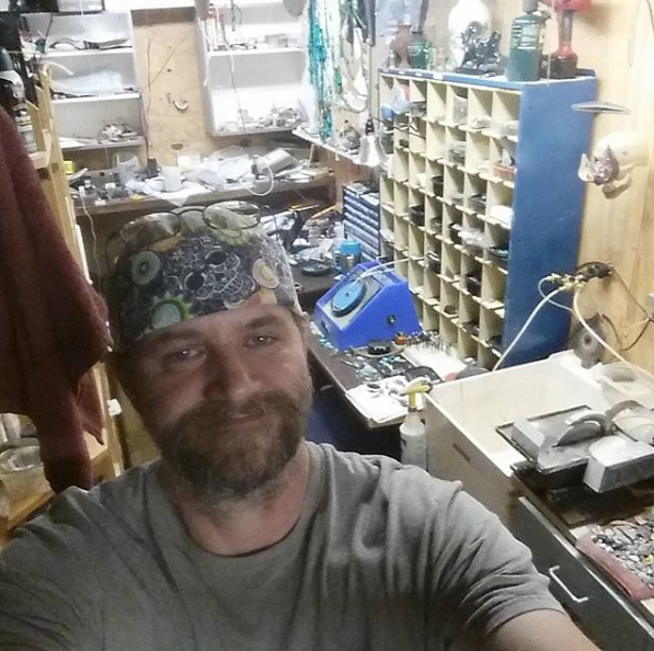 Dave in the workshop