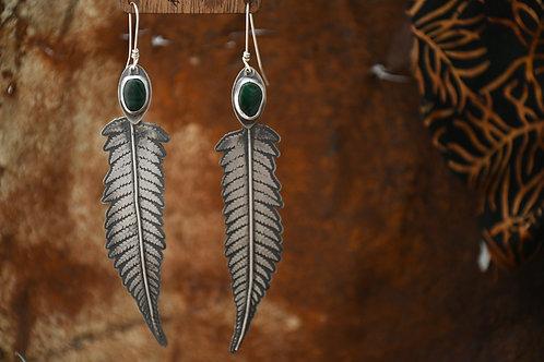 Malachite Fern Earrings