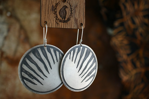 Thylacine Disc Earrings