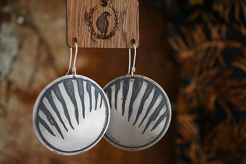 Thylacine Disc Earrings