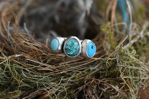 Custom Turquoise Mi Familia Ring