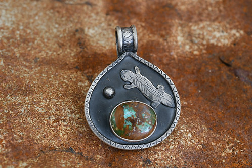 Desert Shingleback Lizard Pendant