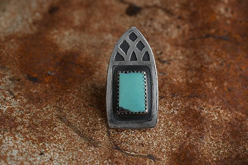 Gothic Turquoise Ring