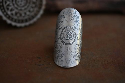 Om Shield Ring