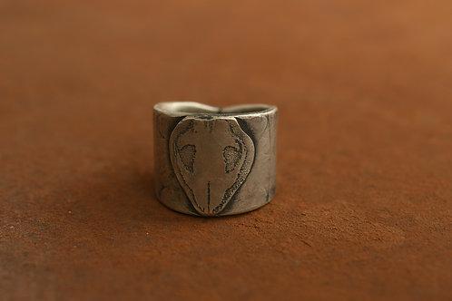 Wombat Skull Cigar Ring