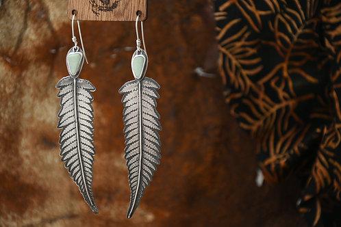 Chrysoprase Fern Earrings