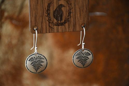 Little Fern Disc earrings