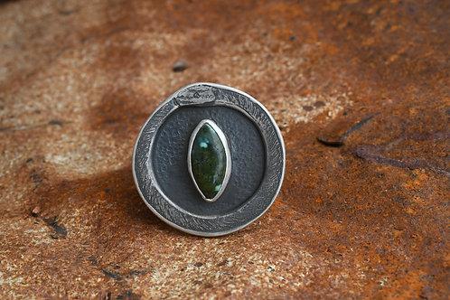 Ouroboros Green Eye Ring