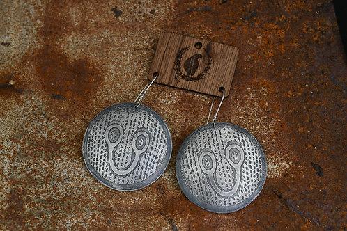 Spectacled Cobra Disc Earrings