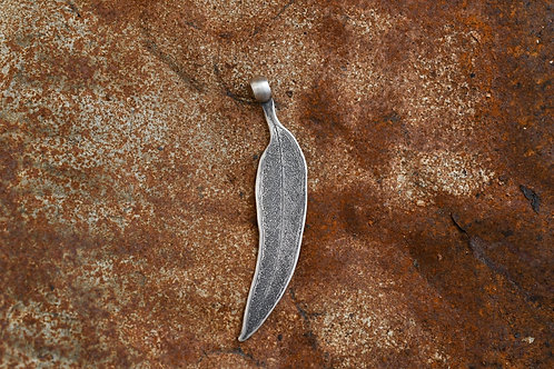 Gum Leaf Silver Pendant