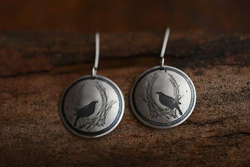 Little Bowerbird Disc earrings